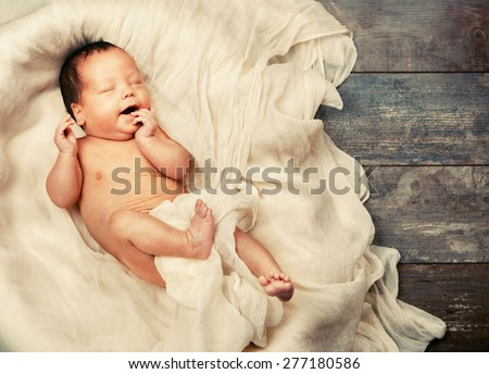 Child baby infant beautiful card  - stock photo