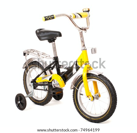 "Child 14"" bike isolated on white - stock photo"