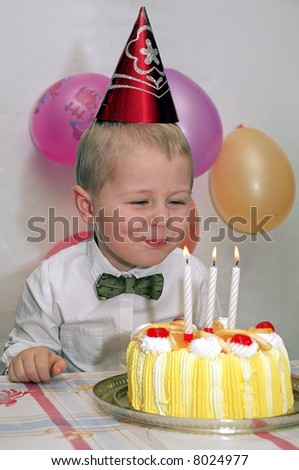 Child birthday - stock photo