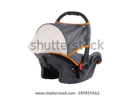 Child car seat. Isolated on a white background.