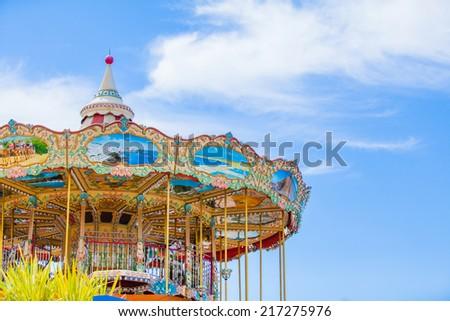 Child Carousel - stock photo
