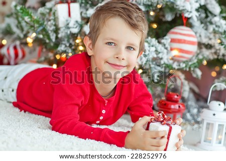 child Christmas - stock photo