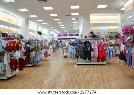 child clothes shop - stock photo