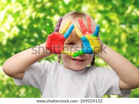 Child, Education, Human Hand. - stock photo