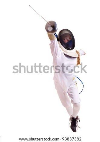 Lunge Fencing Stock Photos, Royalty-Free Images & Vectors ...