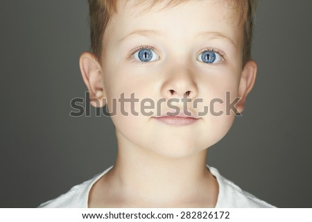 child. funny little boy. close-up. joy. 5 years old.Trendy children of the world.kids emotion - stock photo