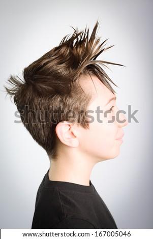 child hair style - stock photo