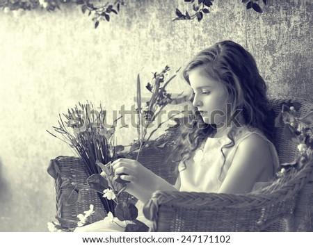 Child in nursery portrait - stock photo