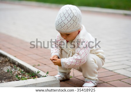 Child in park they play - stock photo