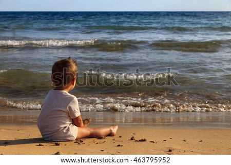 Child in the beach