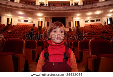 Child in theater - stock photo