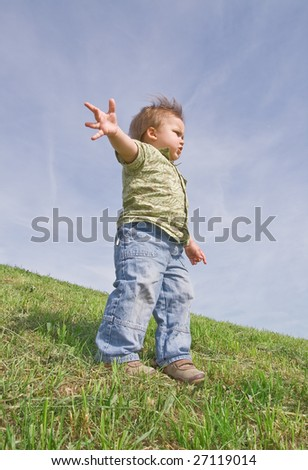 Child leader - stock photo
