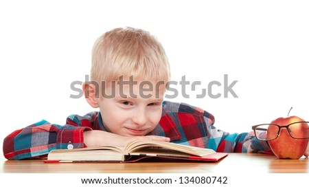 child learns the books