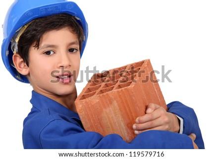 Child mason - stock photo