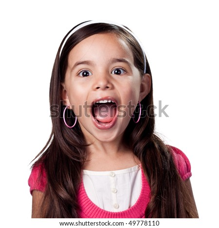 Child not afraid to be loud - stock photo