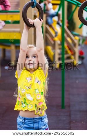 Child, Playground, African Descent. - stock photo
