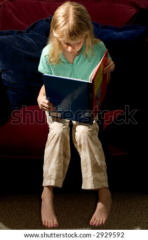 Child Reading - stock photo