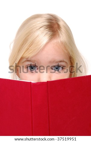 child reading a book - stock photo