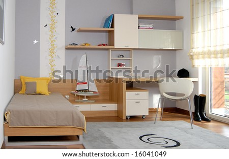 child's bedroom - stock photo