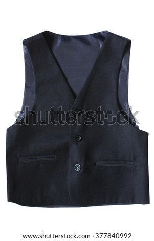 Child's classic waistcoat isolated on white background