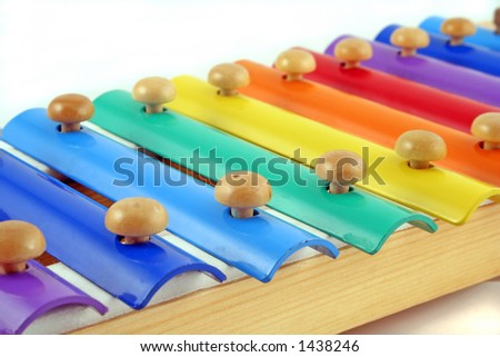 child's glockenspiel displaying a range of colours - stock photo