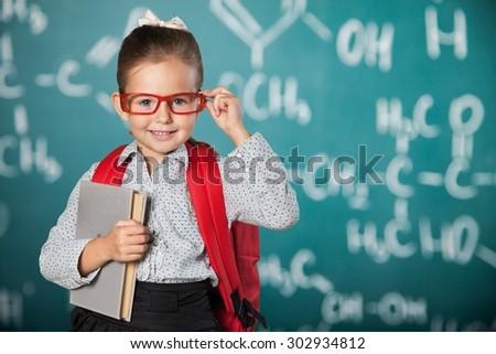 Child, school, genius. - stock photo