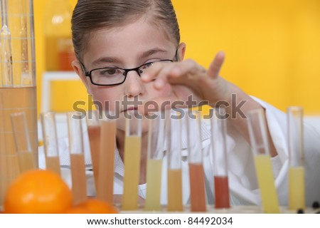 Child scientist - stock photo