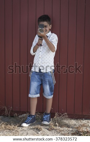 child shooting - stock photo
