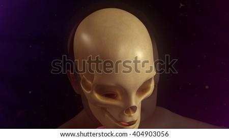 Child skull 3d illustration  - stock photo