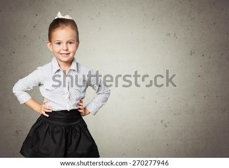 Child, smart, teacher. - stock photo