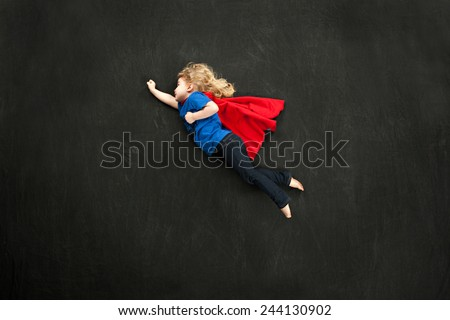 Child super hero concept - stock photo