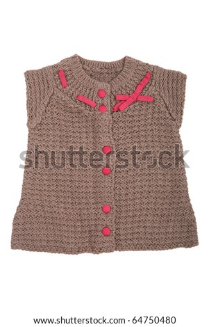 Child sweater for girls isolated on white - stock photo