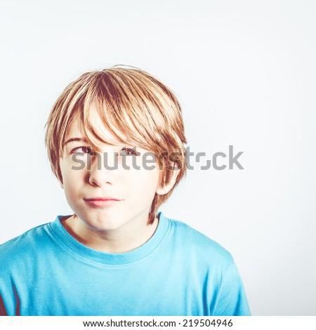 child thinking - stock photo