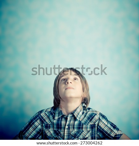 child thought - stock photo