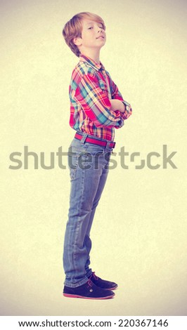 Child with arrogance gesture - stock photo