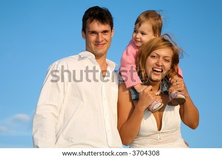 child with father and mother
