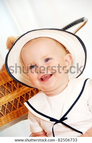 child with hat - stock photo
