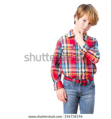 Child with seductive gesture - stock photo