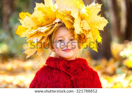 child with yellow leaves, a bouquet of yellow leaves, fallen leaves, maple yellow leaves, yellow leaves of vinok