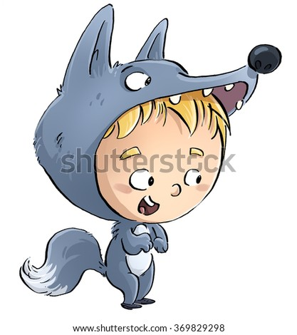child wolf costume  sc 1 st  Shutterstock : wolf costume boys  - Germanpascual.Com