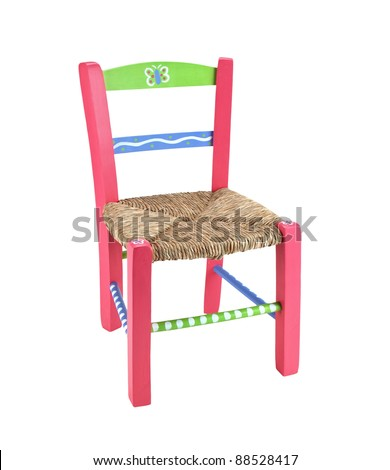 children chair isolated on a white background - stock photo