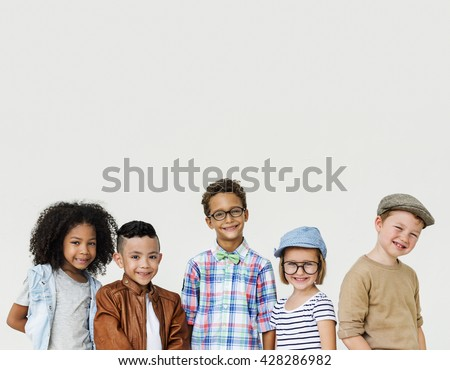 Children Child Aspiration Brave Activity Success Concept - stock photo