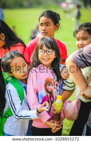 children day of Thailand at Naval base Bangkok 13 jan 2018