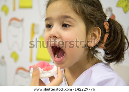 Children dentist - stock photo