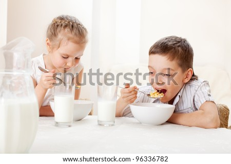 Eating Breakfast Stock Images, Royalty-Free Images ...