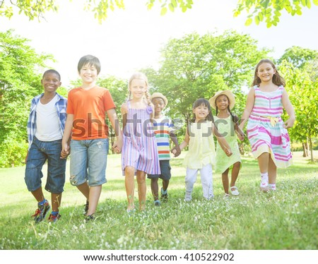 Children in the Park - stock photo