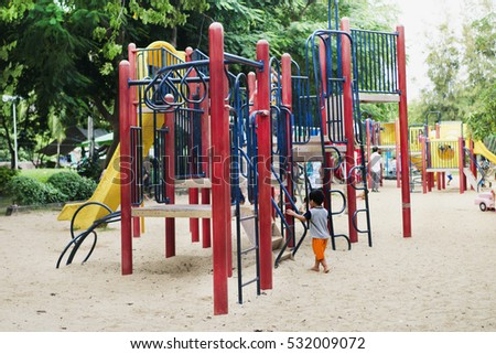 Children is playing on playground