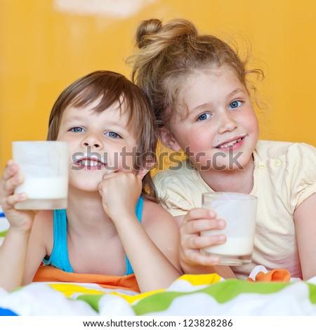 Children milk - stock photo