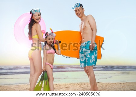 Children on beach - stock photo