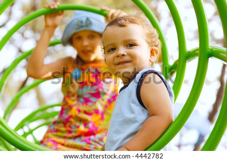 children on playground - stock photo